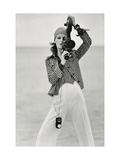 Vogue - April 1972 - Woman with a Film Camera Premium Photographic Print by Gianni Penati