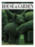 House & Garden Cover - December 1983 Regular Giclee Print by Horst P. Horst