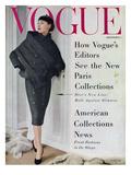 Vogue Cover - September 1955 Regular Giclee Print by Henry Clarke