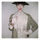 Vogue - January 1953 Regular Photographic Print by Clifford Coffin