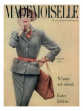 Mademoiselle Cover - March 1951 Regular Giclee Print by Herman Landshoff