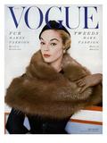 Vogue Cover - October 1953 Regular Giclee Print by Horst P. Horst