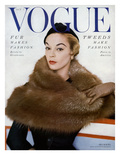 Vogue Cover - October 1953 Premium Giclee Print by Horst P. Horst