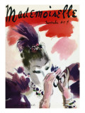 Mademoiselle Cover - November 1935 Regular Giclee Print by Helen Jameson Hall