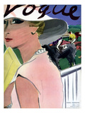 "Vogue Cover - April 1933 Premium Giclee Print by Carl ""Eric"" Erickson"