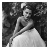Vogue - January 1949 Regular Photographic Print by Clifford Coffin
