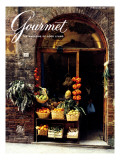 Gourmet Cover - February 1987 Premium Giclee Print by Ronny Jacques