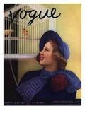 Vogue Cover - January 1935 Regular Giclee Print by Edward Steichen