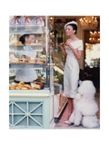 Vogue - March 1999 - At the Patisserie Premium Photographic Print by Arthur Elgort