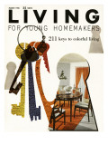 Living for Young Homemakers Cover - March 1958 Premium Giclee Print by Ernest Silva