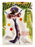 Mademoiselle Cover - January 1936 Regular Giclee Print by Helen Jameson Hall