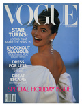 Vogue Cover - December 1989 Regular Giclee Print by Patrick Demarchelier