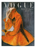 Vogue Cover - October 1947 Regular Giclee Print by René R. Bouché