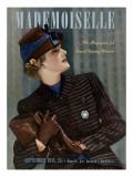 Mademoiselle Cover - September 1938 Regular Giclee Print by Paul D'Ome