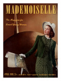 Mademoiselle Cover - April 1939 Regular Giclee Print by Paul D'Ome