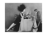 Vogue - November 1960 - Dining with a Cheetah Regular Photographic Print by  Leombruno-Bodi