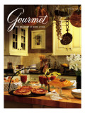 Gourmet Cover - April 1992 Regular Giclee Print by Romulo Yanes