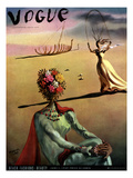 Vogue Cover - June 1939 - Dali's Dreams Regular Giclee Print by Salvador Dalí