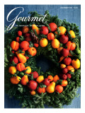 Gourmet Cover - December 1984 Regular Giclee Print by Romulo Yanes