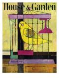 House & Garden Cover - December 1947 Premium Giclee Print by Hans Moller