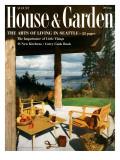 House & Garden Cover - August 1957 Regular Giclee Print by  Dearborn-Massar