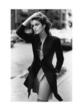 Vogue - February 1988 - Cindy Crawford, 1988 Premium Photographic Print by Arthur Elgort