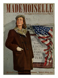 Mademoiselle Cover - July 1943 Premium Giclee Print by George Karger