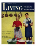 Living for Young Homemakers Cover - October 1950 Premium Giclee Print by Phillipe Halsman