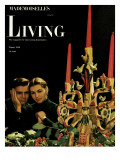 Living for Young Homemakers Cover - December 1948 Premium Giclee Print by Herman Landshoff
