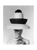 Vogue - June 1963 - Galitzine Hat Regular Photographic Print by Karen Radkai