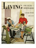 Living for Young Homemakers Cover - March 1951 Premium Giclee Print by Alan Fontaine