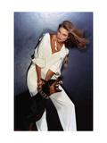 Vogue - February 1977 - Beauty and the Beast Premium Photographic Print by Chris Von Wangenheim