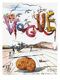 Vogue Cover - April 1944 - Dali's Surealist Vogue Regular Giclee Print by Salvador Dalí