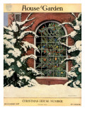 House & Garden Cover - December 1917 Regular Giclee Print by Ethel Franklin Betts Baines