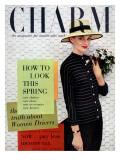 Charm Cover - March 1955 Premium Giclee Print by Carmen Schiavone