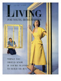 Living for Young Homemakers Cover - July 1950 Premium Giclee Print by Phillipe Halsman