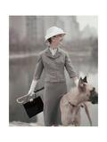 Vogue - February 1956 Regular Photographic Print by Karen Radkai