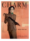 Charm Cover - September 1947 Premium Giclee Print by Hal Reiff