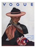 Vogue Cover - February 1934 Premium Giclee Print by George Hoyningen-Huen&#233;