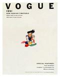 Vogue Cover - January 1951 Regular Giclee Print by Erwin Blumenfeld