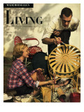 Living for Young Homemakers Cover - April 1949 Premium Giclee Print by Herman Landshoff