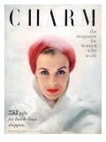Charm Cover - December 1950 Premium Giclee Print by Francesco Scavullo