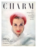 Charm Cover - December 1950 Premium Giclee Print by Francesco Scavullo