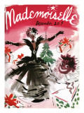 Mademoiselle Cover - December 1935 Regular Giclee Print by Helen Jameson Hall