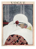 Vogue Cover - January 1919 Regular Giclee Print by Georges Lepape