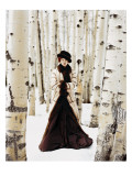 Vogue - October 1999 - Winter Among the Trees Premium Photographic Print by Arthur Elgort