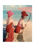Vogue - January 1959 - Under Parasols Premium Photographic Print by Louise Dahl-Wolfe