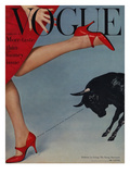 Vogue Cover - February 1958 Premium Giclee Print by Richard Rutledge