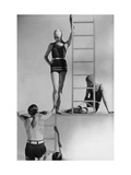 Vogue - July 1929 - Suits and Ladders Regular Photographic Print by George Hoyningen-Huené