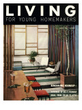 Living for Young Homemakers Cover - August 1953 Premium Giclee Print by Ernest Silva
